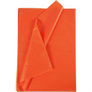 Set 20 coli hartie de matase, 50x75 cm, orange
