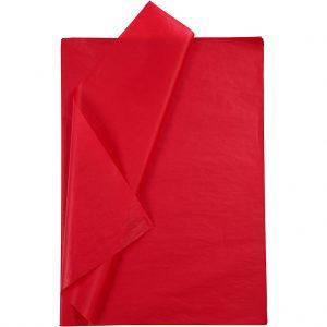 Set 20 coli hartie de matase, 50x75 cm, rosu