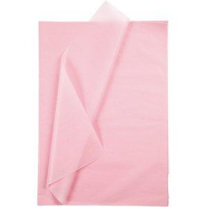 Set 20 coli hartie de matase, 50x75 cm, roz deschis