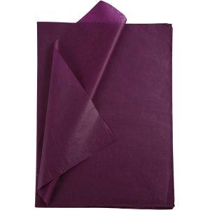 Set 20 coli hartie de matase, 50x75 cm, violet
