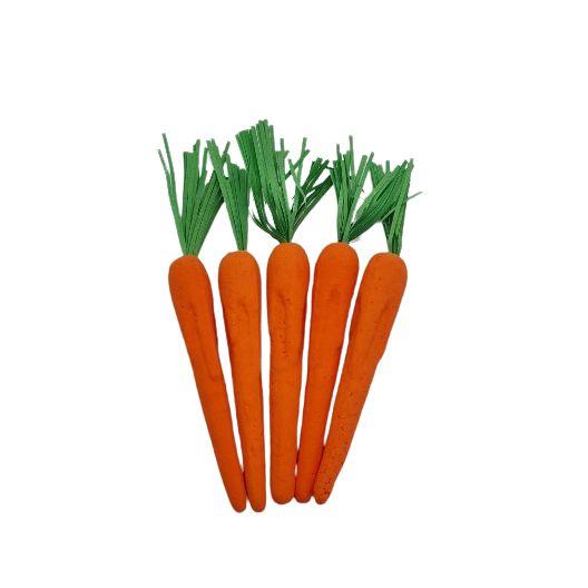 Set 5 morcovi cu frunze decorativi