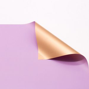 Hartie ambalaj dublu fatetata impermeabilă, lila-auriu, 20 de foi