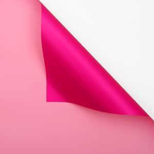 Hartie ambalaj dublu fatetata impermeabilă, magenta-roz pudra, 20 de foi