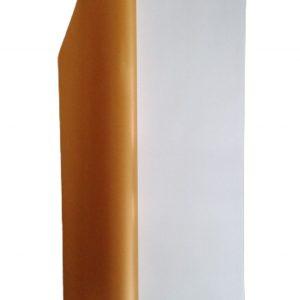 Hartie ambalaj dublu fatetata impermeabilă, alb-auriu, 20 de foi