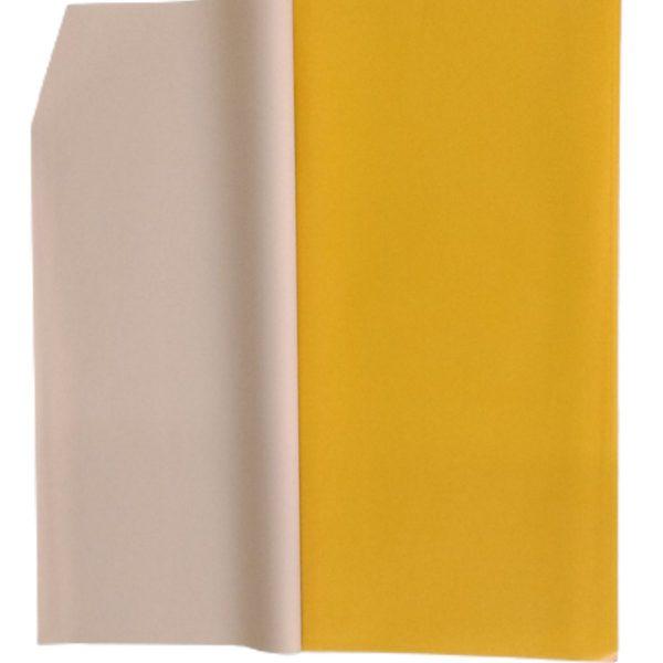 Hartie ambalaj dublu fatetata impermeabilă, galben - ceai cu lapte, 20 de foi