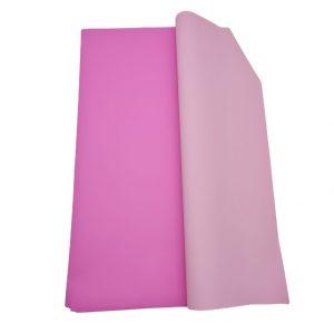 Hartie ambalaj dublu fatetata impermeabilă, roz inchis-deschis, 20 de foi
