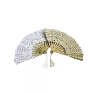 Evantai din material textil brodat D50 H27