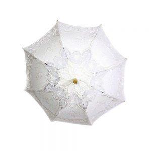 Umbrela din material textil brodat
