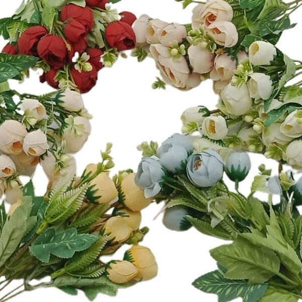 Buchet 5 fire bobocei flori artificiale