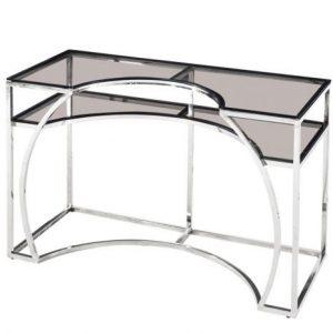 Consola cu sticla 120x50x75 argintie