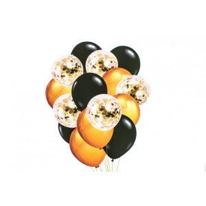 Baloane Latex Negre 15/Set