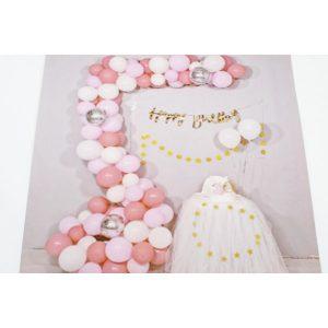 Set Baloane Pentru Aranjamente Tip Arcada Roz,Alb