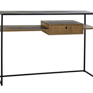Consola lemn 120x30x86 negru