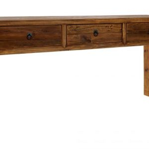 Consola lemn reciclat pin 162x40x76