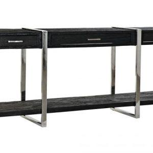 Consola lemn reciclat 180x44x75 neagra