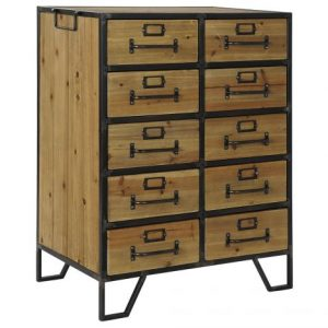 Dulap lemn metal 61x38x81