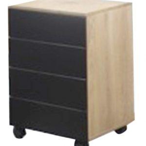 Dulap MDF 45x40x61.5 cu roti negru
