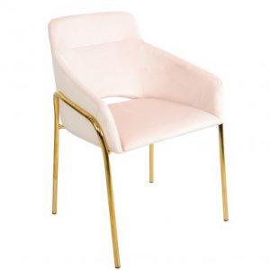 Scaun catifea 59x60x83 roz-auriu